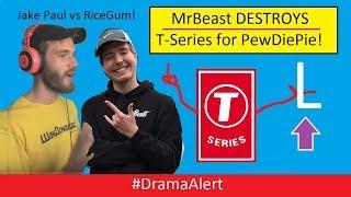 Mr Beast DESTROYS T-Series for PewDiePie! #DramaAlert Jake Paul vs RiceGum! ETIKA!