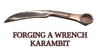 Blacksmithing Knifemaking - Wrench Karambit