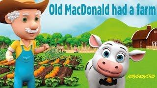 Old MacDonald Had A Farm | Popular Nursery Rhymes & Children Songs | Jolly Baby Club