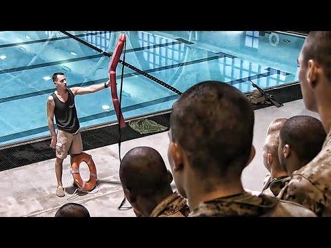 USMC Recruit Swim Training • Boots In The Water