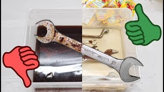 Cheap Rust Remover: Cola vs. Citric Acid🍋 | Rust Removal Time Lapse