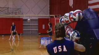 AirCAT Volleyball Training Machine - Digging, Spiking, Serving, and Blocking Training Aid