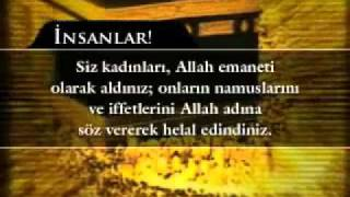 Hz. Muhammed (sav)'in Veda Hutbesi