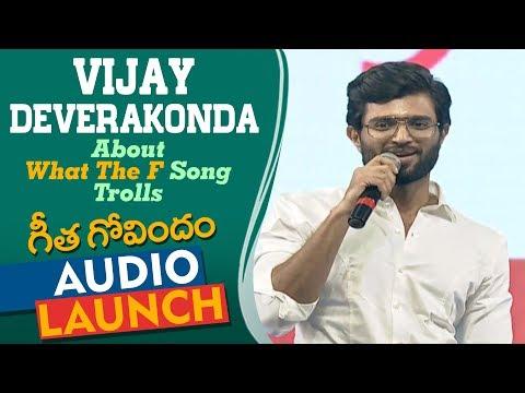 Xxx Mp4 Vijay Deverakonda Reaction To What The F Song Trolls At Geetha Govindam Audio Launch Rashmika 3gp Sex