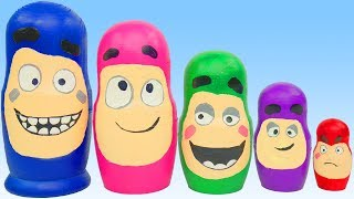 Candy Surprise Toys Oddbods Pig Disney Princess Peppa Superhero PlayDoh Finger Family Nursery Rhymes