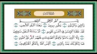 سورة التين  والتين والزيتون الشيخ احمد العجمي