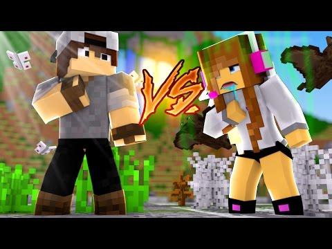 Minecraft: CORRIDA PVP - LIMPO vs SUJO!