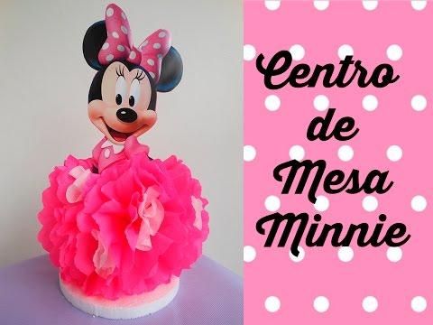 Centro de Mesa Minnie Mouse Centerpiece Minnie Mouse