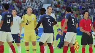 World Cup 2018 - France vs England 2018 3rd Place Game Full Match What If Sim (FIFA 18)