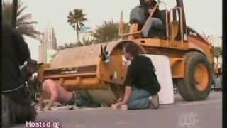 Criss Angel Gets Run Over By A Bulldozer In Vegas
