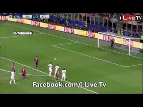 ضربة جزاء اتلتيكو مدريد على العارضة ....Penalty Atletico Madrid at the bar