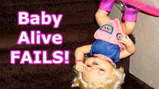 BABY ALIVE FAILS And Pranks! Baby Alive Videos