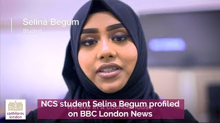 NCS student Selina Begum profiled on BBC London News to mark 100 years since women gained the vote