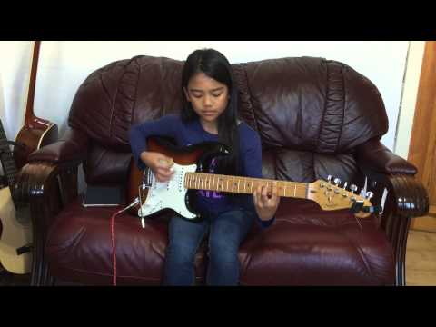 10 yr old Krizten Centino guitar cover of Living on a Prayer by BonJovi