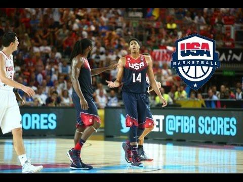 watch Anthony Davis & Kenneth Faried Team USA Full Highlights 2014.31.8 vs Turkey - 41 Pts, 14 Rebs!