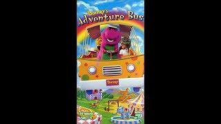 Barney's Adventure Bus 1997 VHS