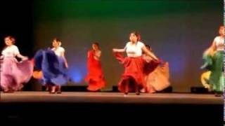 East High Multicultural 2012-Traditional Mexican Skirt Dance