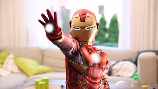 Iron Man Fun Costume and Avengers Hawkeye Toy Bow from Disney Store