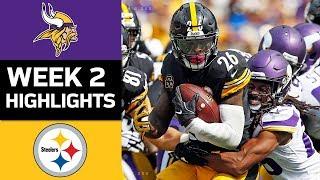 Vikings vs. Steelers | NFL Week 2 Game Highlights