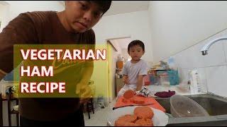 Bikin daging Ham vegetarian buat anak gue ;-) nih resepnya