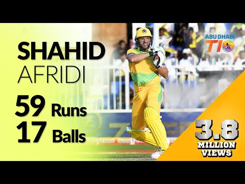 Shahid Afridi s blistering 57 from 17 balls in T10 league season 2 qualifier