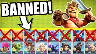 BANNED FROM USING HALF THE ARMY!! - Clash Of Clans - ULTIMATE CHALLENGE!