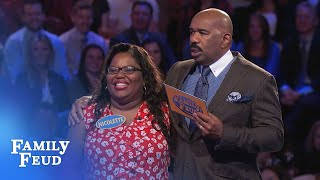 Final answer... Nicolette needs just 18 points for $20,000! | Family Feud