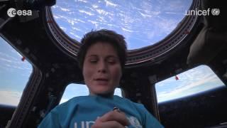 Samantha Cristoforetti, spot per l'UNICEF dalla Stazione Spaziale (45