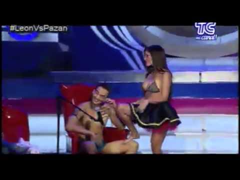 Paul Guerra y Karla Pazan Striptease Intelectual en Guerra de los Sexos al Límite por TC