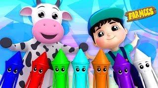 Crayons Color Song | Kindergarten Learning Videos For Children