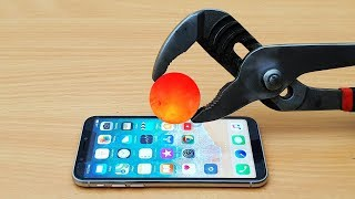 EXPERIMENT Glowing 1000 Degree METAL BALL vs iPhone X