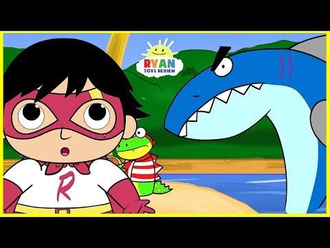 Xxx Mp4 Ryan Pirate Adventure With Shark Cartoon Animation For Children 3gp Sex