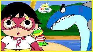 Ryan Pirate Adventure with Shark Cartoon Animation for Children!