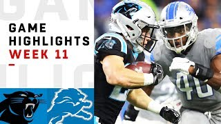 Panthers vs. Lions Week 11 Highlights   NFL 2018