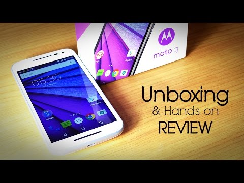 MOTO G 3rd Generation Unboxing & Hands on Review / Moto G3 2015