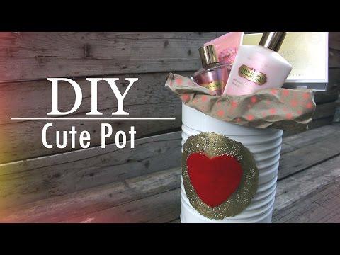 DIY San Valentín Valentine´s Day Cute pot