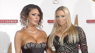 Jessica Jaymes & Briana Banks XBIZ Awards 2016 Red Carpet Fashion