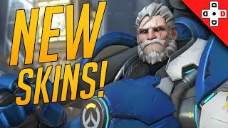 Overwatch Uprising NEW SKINS! All new cosmetics, voice lines, intros, sprays