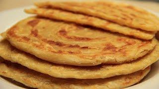 Turkish Flatbread Recipe - Traditional Tahini Butter Flat Bread