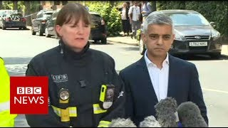 """London Fire: """" This is completely unprecedented fire""""- BBC News"""