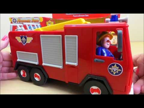 Jupiter Friction Powered Toy Fire Engine Unboxing