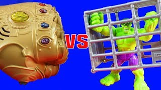Hulk Rage Cage Vs. Infinity War Ultimate Infinity Gauntlet + Imaginext Justice League Tryouts