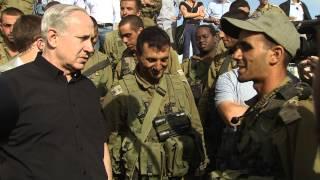 PM Netanyahu in the Golani brigade drill