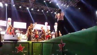 Radio and Weasel performing at Omwana Wa Bandi concert
