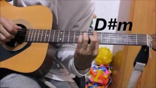 1 Romantic Hindi/Punjabi mix Song - Guitar cover lesson chords hindi