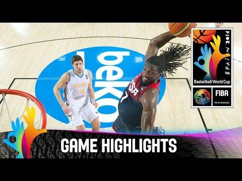 watch Ukraine v USA - Game Highlights - Group C - 2014 FIBA Basketball World Cup