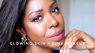 Super Easy, Feminine Pink Makeup Look + Glowing Skin How-To | Style Domination