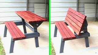 Table Bench Outdoor Furniture // Woodworking How to