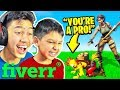 7 Year Old HIRES a Fortnite Coach while I actually play...