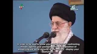 [English Sub]  Speech in Meeting with Air Force personnel - Ayatullah Ali Khamenei - Feb 2014